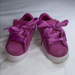 Puma suede sneakers size 11 (toddler girl)